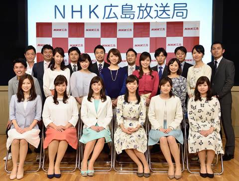 上原光紀 NHK広島局での記念撮影