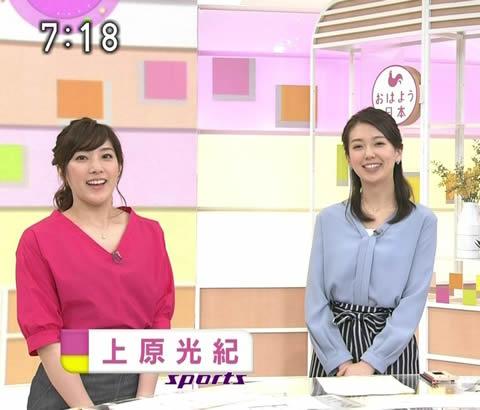 上原光紀 「おはよう日本」のスポーツキャスターに