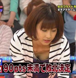 加藤綾子 胸チラのセクシー画像