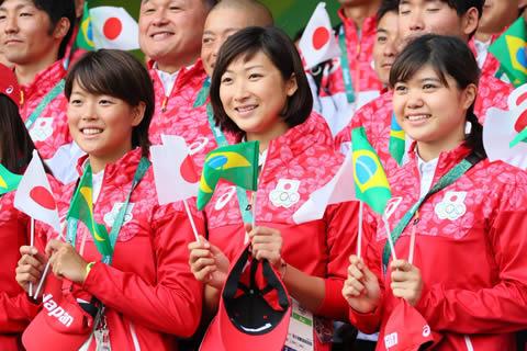 長谷川涼香と池江璃花子 リオオリンピック壮行会